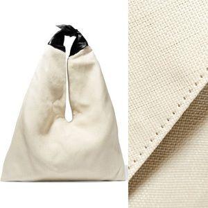 NWT The Row Bindle leather-trimmer raffia bag